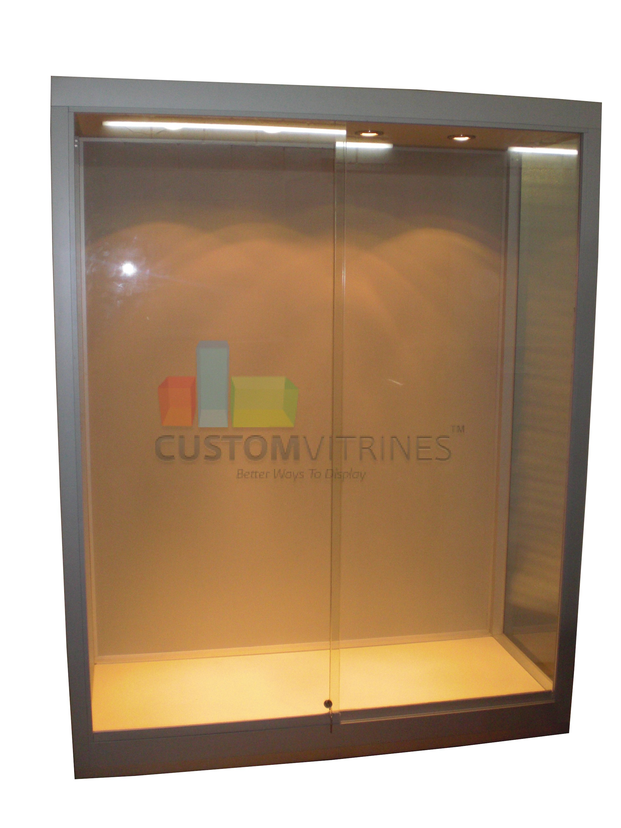 Wall upright display chowcase for mannequins