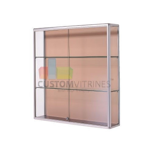 our line of wall mounted and suspended glass display cabinets are at our state of the art factory located in laredo texas